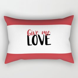 Give Me Love Red Bars Rectangular Pillow
