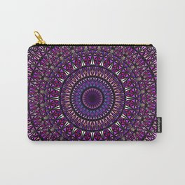 Pretty Particle Pattern Mandala Carry-All Pouch