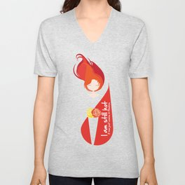 I am still hot... it now just comes in flashes Unisex V-Neck