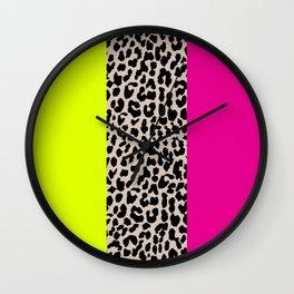 Leopard National Flag X Wall Clock