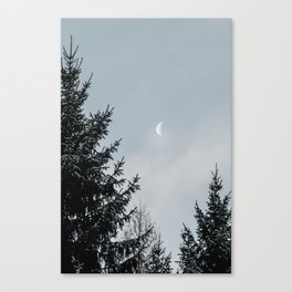 Half Moon   Nature and Landscape Photography Canvas Print