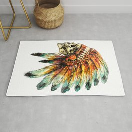 Skull Colorful Chief Rug