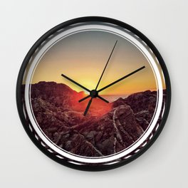 Peel Sunset  - line/circle graphic Wall Clock