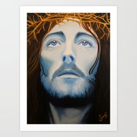 christ Art Prints featuring Christ Painting by Samantha Hardcastle