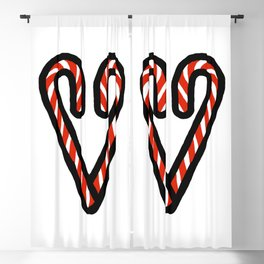 Candy Cane Heart Blackout Curtain