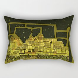 Space Colonization Rectangular Pillow