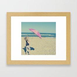 Beach Whirl Framed Art Print