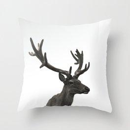Single Deer Throw Pillow
