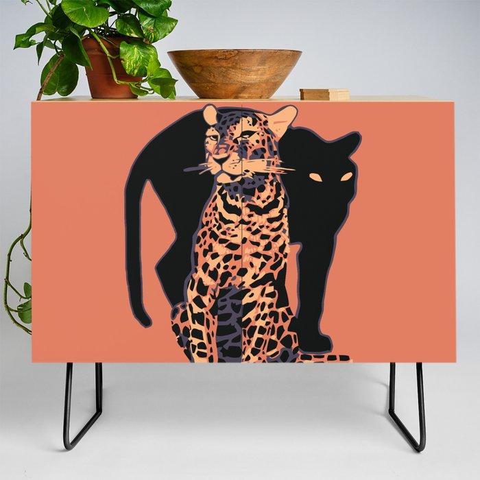 Retro_vintage_Munich_Zoo_big_cats_Credenza_by_aapshop__Black__Birch