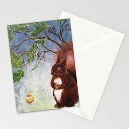 A fuzzy feeling - squirrel Stationery Cards