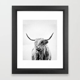 portrait of a highland cow - vertical orientation Framed Art Print
