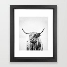 portrait of a highland cow - (vertical) Framed Art Print