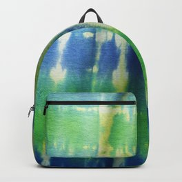 Tie Dye in Blue and Green 2 Backpack