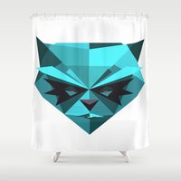 racoon Shower Curtains featuring Rocky Racoon by rybbrybson