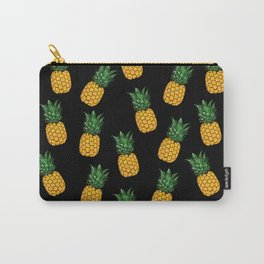 Pineapple Black Carry-All Pouch