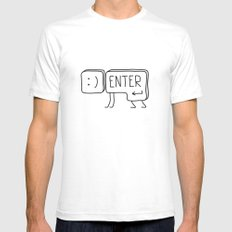 ENTER Mens Fitted Tee SMALL White