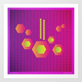 Music in Monogeometry : The Drums Art Print