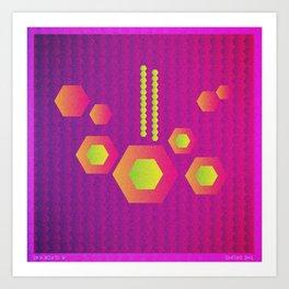 Music in Monogeometry : The Drums Art Print