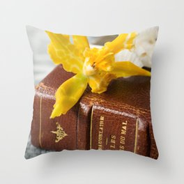 flowers of evil Throw Pillow
