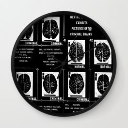 Criminal Brains Wall Clock