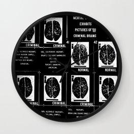 Criminal Brains Wall Clock