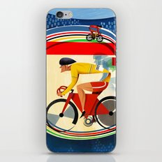Track Cycling Championship Poster Cycle Bike iPhone & iPod Skin