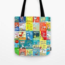Dr. Seuss Book Covers Tote Bag