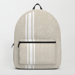 Vintage Country French Grainsack White Stripes Against Bone Color Background Backpack