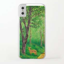 Lonely Time Clear iPhone Case