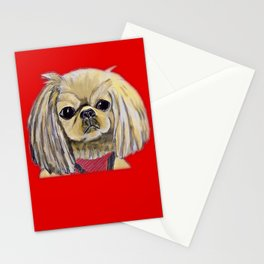 Cartoon dogs Li Li the Pekingese Stationery Cards