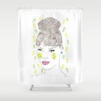 rihanna Shower Curtains featuring Rihanna by Bri Benson