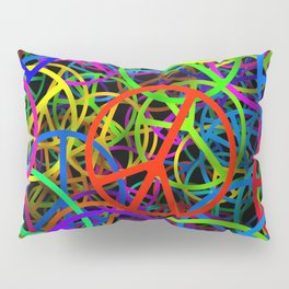 Groovy Peace Rainbow Pillow Sham
