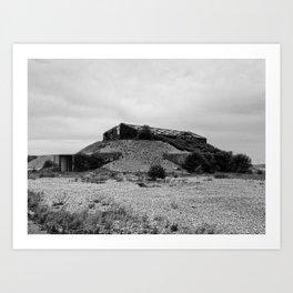 bunker - orford ness Art Print
