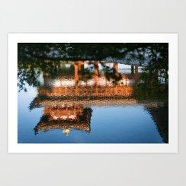 Temple reflected Art Print
