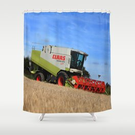 A Touch Of Claas 'Claas Lexion 470' Combine Harvester Shower Curtain