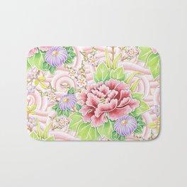 Pink Kimono Bouquet Bath Mat