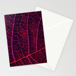 LEAF STRUCTURE RED VIOLET Stationery Cards