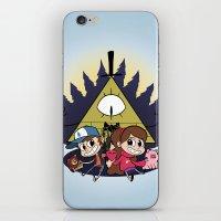 gravity falls iPhone & iPod Skins featuring Gravity Falls by Matt Tichenor