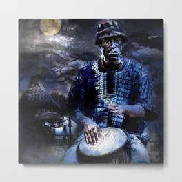 A Drum Solo At Midnight Metal Print
