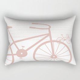 Pink Bike by Friztin Rectangular Pillow