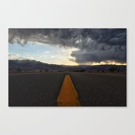 Storm clouds over Death Valley Canvas Print