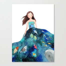Ocean dress Canvas Print