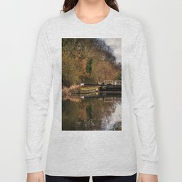 Above Sulhamstead Lock On The K&A Long Sleeve T-shirt