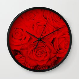 Some people grumble- Floral Red Rose Roses Flowers Wall Clock
