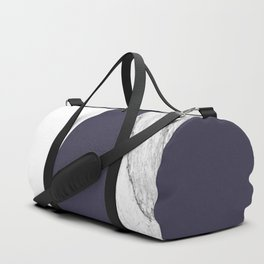 Marble Eclipse blue Geometry Duffle Bag