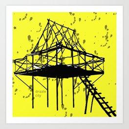 Drizzle City 3 Art Print