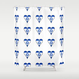flag of israel 6- יִשְׂרָאֵל ,israeli,Herzl,Jerusalem,Hebrew,Judaism,jew,David,Salomon. Shower Curtain