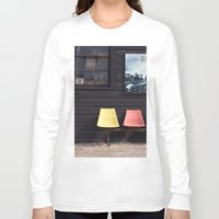 posters Long Sleeve T-shirts featuring Seats outside Heritage Posters by RMK Photography