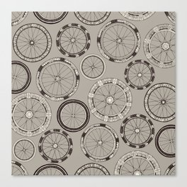 bike wheels stone Canvas Print