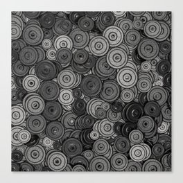 Heavy iron / 3D render of hundreds of heavy weight plates Canvas Print